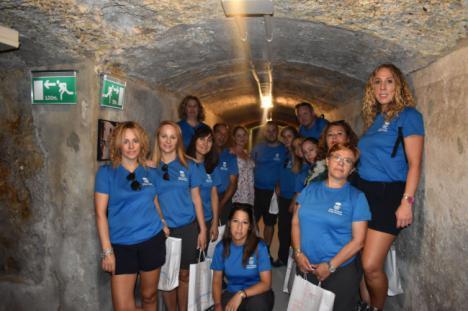 Alumnos del taller de empleo de Abrucena visitan la Alcazaba los Refugios