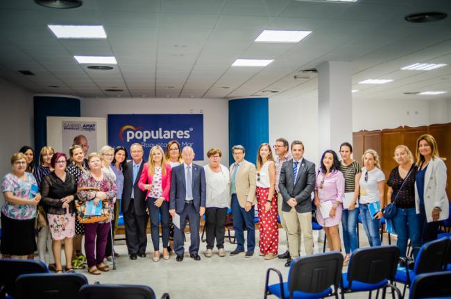 El PP expone sus propuestas sobre discapacidad a las asociaciones de Roquetas