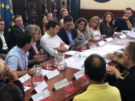 García explica al presidente el operativo de Diputación con motivo de las inundaciones