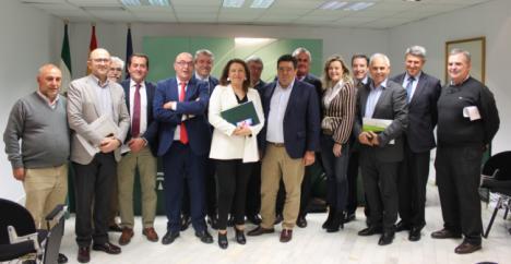 Crespo se reúne con el presidente de Cooperativas Agro-alimentarias de Andalucía