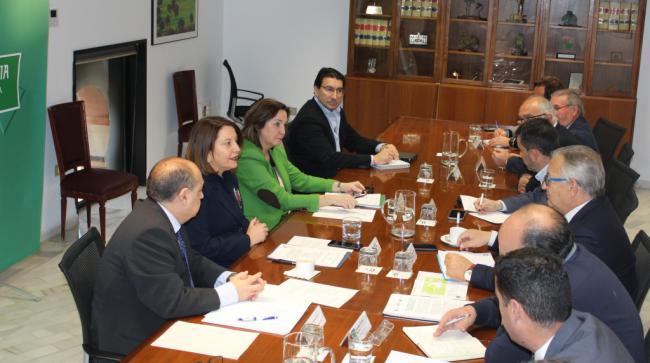 Crespo se reúne con los representantes de las federaciones pesqueras andaluzas
