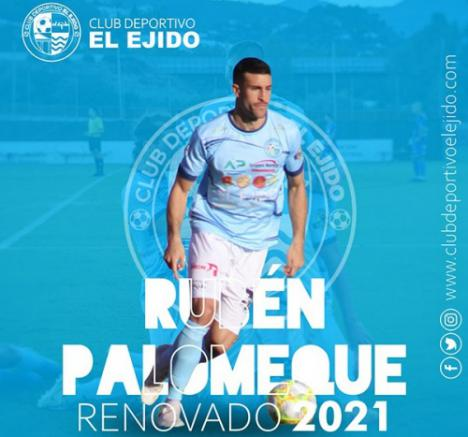 El CD El Ejido renueva a Rubén Palomeque