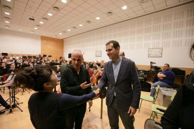 El alcalde elogia la labor con la cantera de la Agrupación Musical San Indalecio de La Cañada