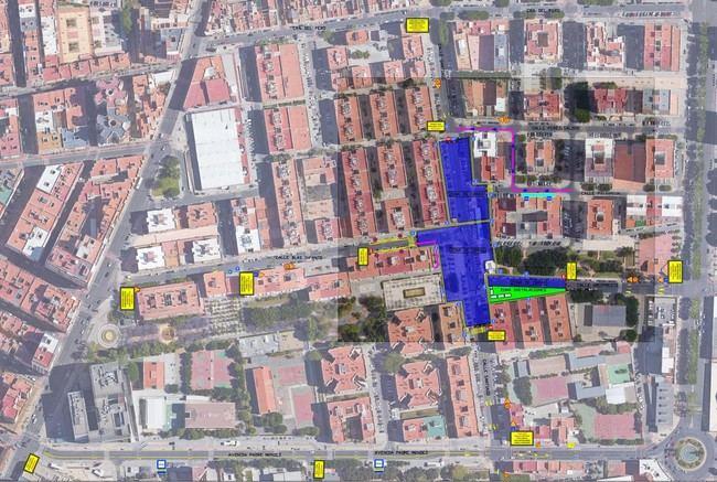 Reordenación del tráfico por obras en la calle Santiago