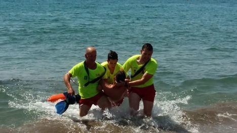 Nuevo simulacro de socorrismo en la playa de San José