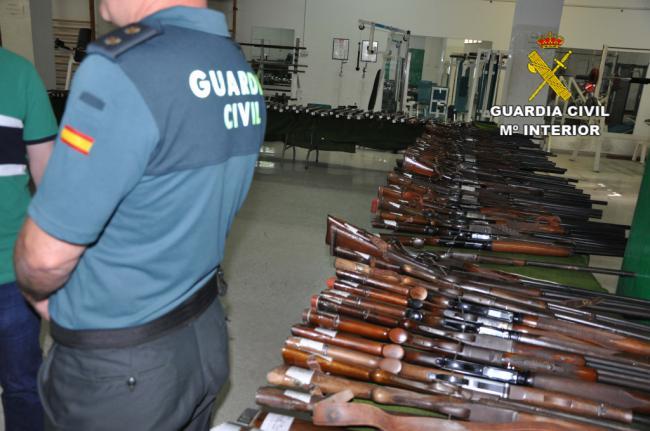 Subasta de armas en la Comandancia de la Guardia Civil de Almería