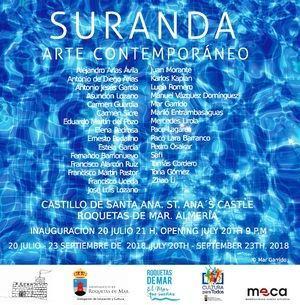 El Castillo de Santa Ana en Roquetas acoge la exposición de Arte Contemporáneo SURANDA