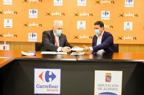 Diputación y Carrefour promocionarán los productos de 'Sabores Almería'