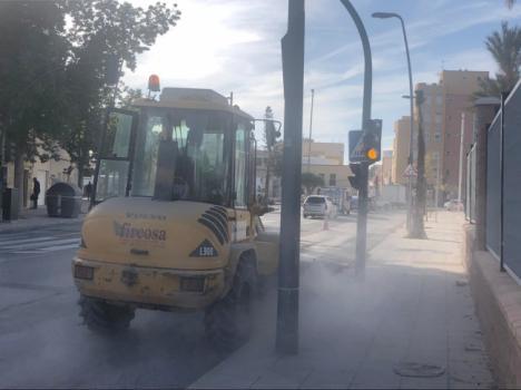 Corte de tráfico el martes por obras en la intersección de Ctra. Ronda y Ctra. Níjar