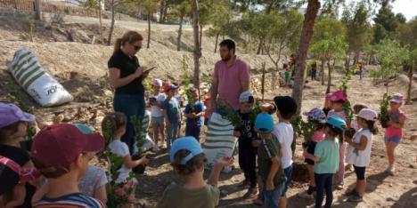Taller de reforestación del Ayuntamiento de Tabernas y el CEIP Virgen de las Angustias