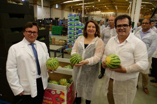 Carmen Crespo y Antonio Jesús Rodríguez apoyan la agricultura nijareña