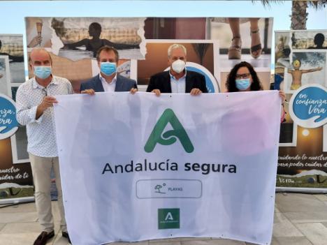 Las playas de Vera ya cuentan con el distintivo 'Andalucía Segura'