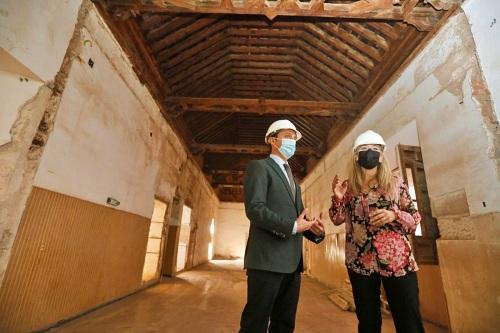Diputación y Junta impulsan las obras del Antiguo Hospital Provincial