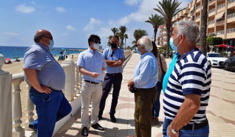 El subdelegado del Gobierno visita las obras del PFEA en Garrucha