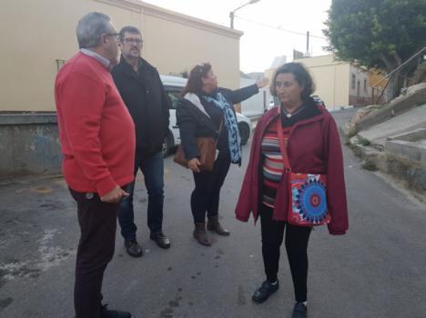 Izquierda Unida constata el abandono del barrio Quemadero-La Fuentecica