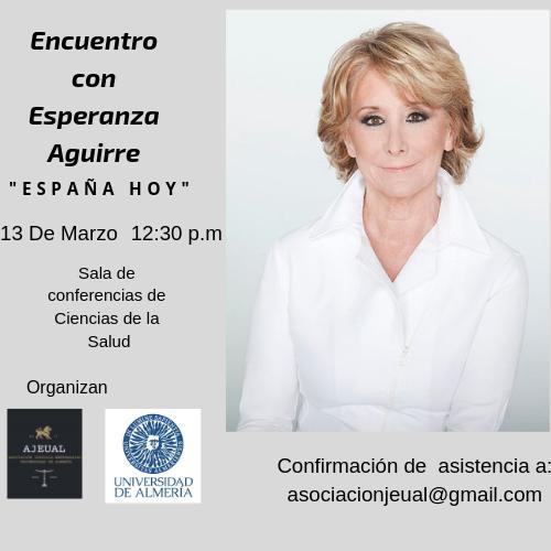 Esperanza Aguirre este miércoles en Almería