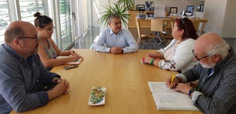 La coalición IU-Equo propone al rector de la UAL mejorar el transporte