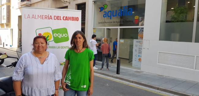 IU-Equo apuesta por cambiar la escasez de suministros básicos que padece Almería