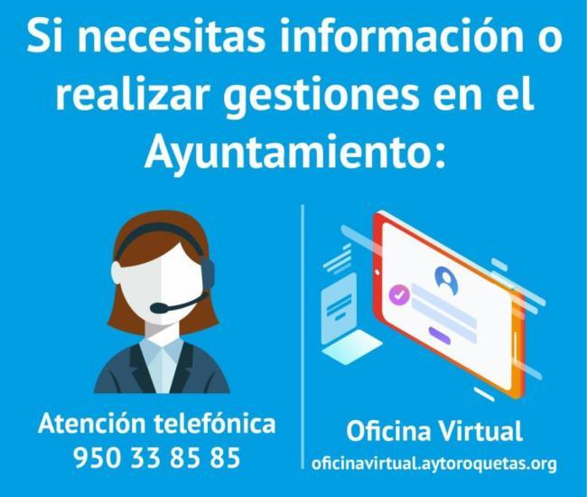 La Oficina Virtual del Ayuntamiento de Roquetas aumenta un 87% su actividad