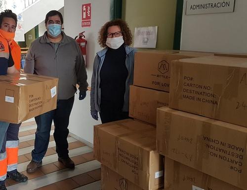 La Mancomunidad del Levante Almeriense adquiere 60.000 mascarillas