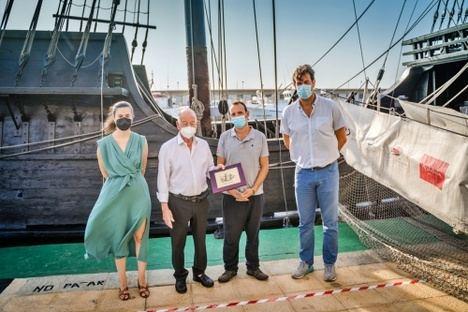 Una réplica de la Nao Victoria se puede visitar en Roquetas de Mar