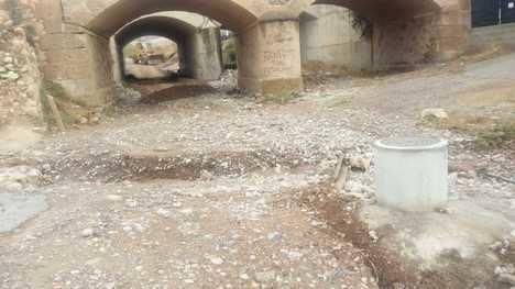 Diputación ayuda a limpiar los cauces y caminos a los municipios afectados por las lluvias torrenciales
