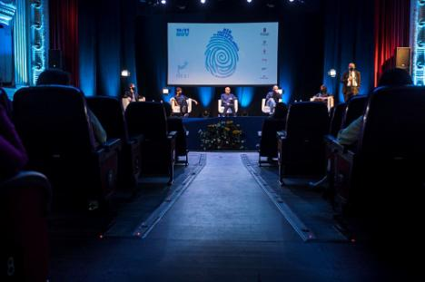 Verónica Forqué, Roberto Álamo, Julián López y Andrea Duro en la última actividad de FICAL 2020
