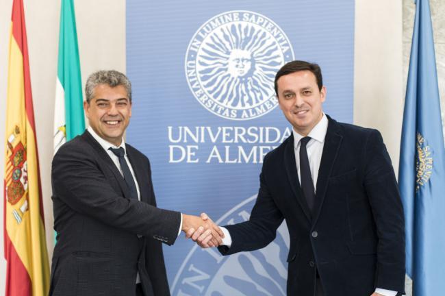Encuentro del presidente de la Diputación y el rector