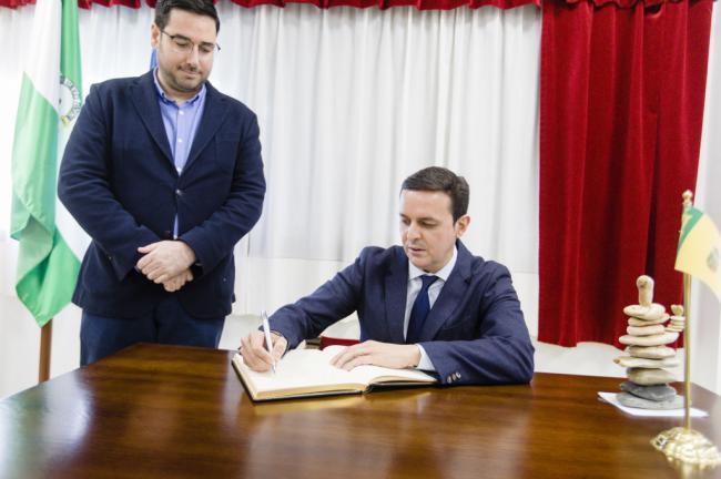 El presidente de Diputación visita Tabernas y Lubrín