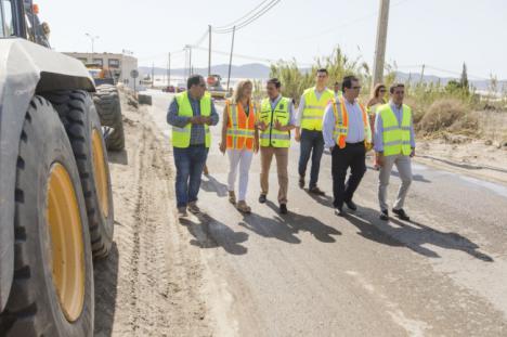 Diputación dota de nuevo asfalto y balizamiento a la carretera entre 'El 21' y Campohermoso