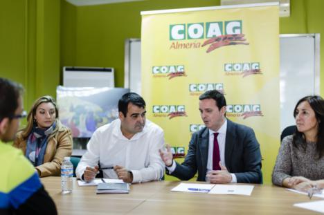 El presidente de la Diputación visita COAG para conocer la situación del sector