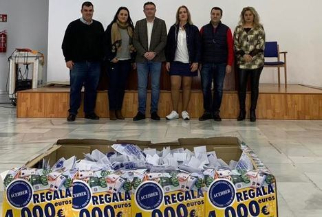 Comerciantes de Berjan sortea cuatro mil euros de la campaña de Navidad