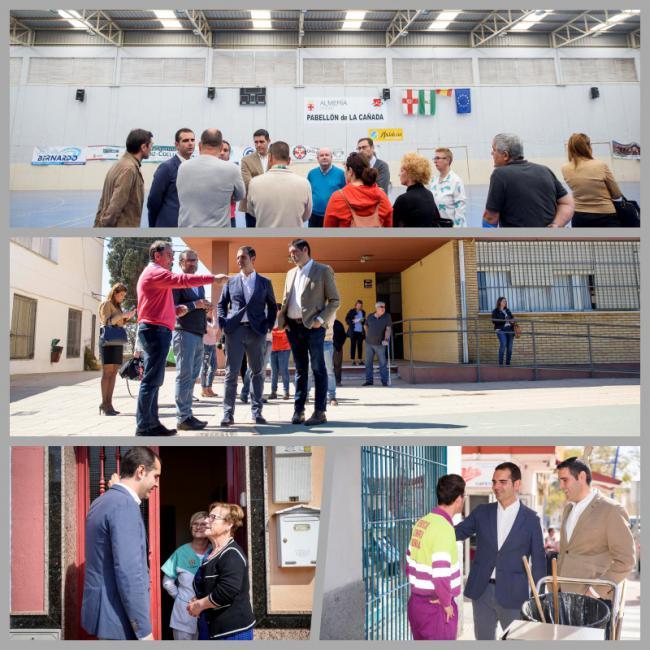 El alcalde anuncia en La Cañada 80.000 euros para la cubierta del polideportivo del CEIP San Indalecio