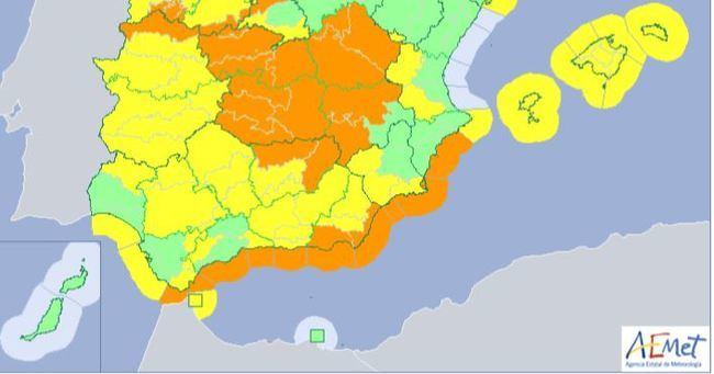Se mantiene la alerta en Almería a pesar de las pocas incidencias