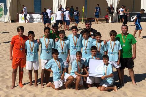 El equipo Alevín, Bronce en el Campeonato de España de Clubes de Fútbol Playa