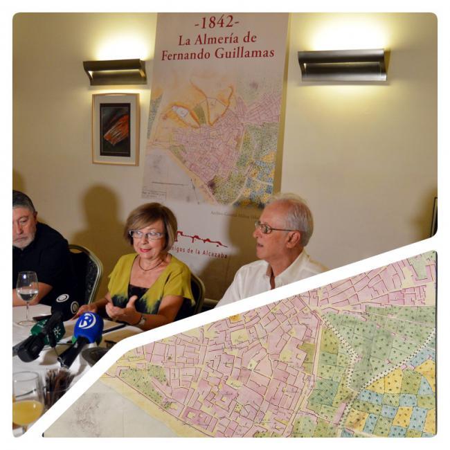 La historia de película de un plano de Almería de 1842