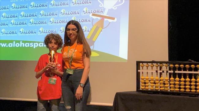 Con once años gana por quinta vez el campeonato provincial de cálculo mental
