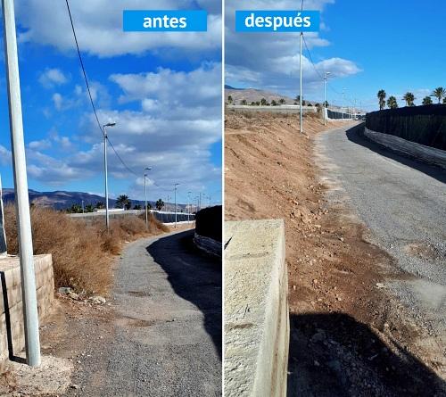 El Ayuntamiento de Roquetas continúa con la limpieza de caminos