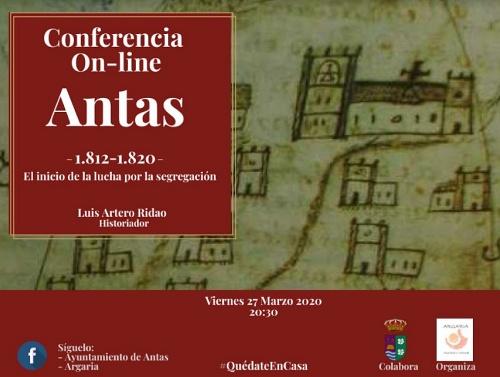 Argaria reanuda por internet su actividad cultural en Antas