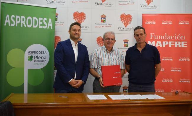 El Ayuntamiento de Vicar, Mapfre Y Asprodesa acuerdan La Integración Laboral De Personas Con Discapacidad