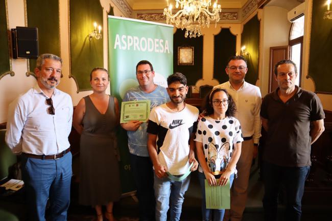 Jóvenes con diversidad funcional se forman en el Ayuntamiento de Berja