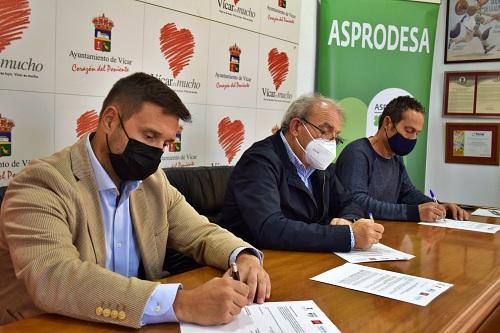 El Ayuntamiento de Vícar Suscribe Con Mapfre Y Asprodesa Un Nuevo Convenio