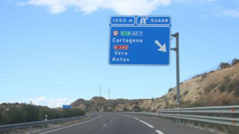 Juzgado por estafa al no pagar 10,9 euros en la Autopista Vera-Cartagena