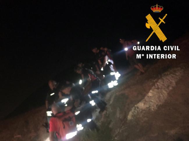 Rescatado un ciclista que cayó por un barranco en Huércal de Almería