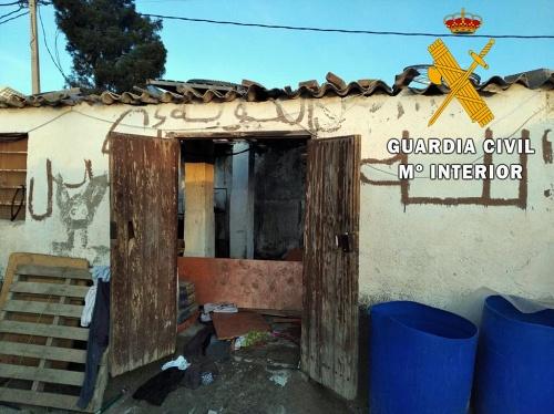 El incendio de la chabola de San Isidro fue por manipular una bombona de butano