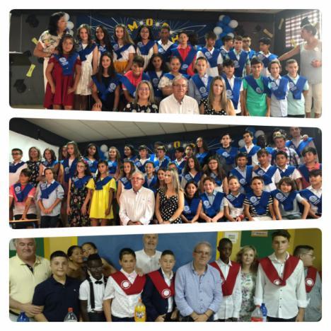 Puesta De Bandas Dl Fin De Curso En Los Centros Escolares De Vícar