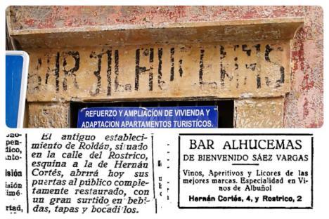 Reaparece el Bar Alhucemas de 1927