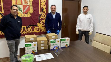 El Ayuntamiento de Berja colabora en la impresión 3D de pantallas protectoras