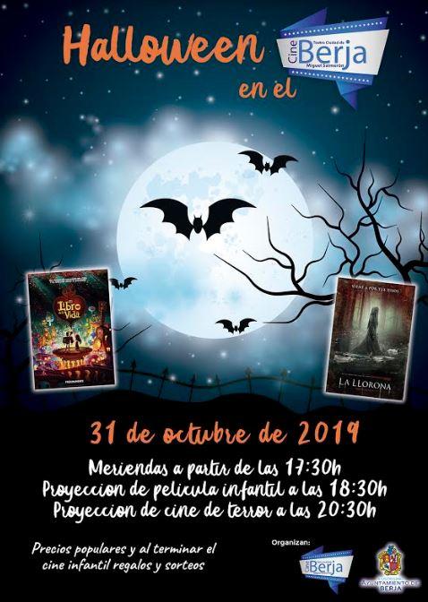 Berja celebra halloween este jueves con una tarde de cine en el Teatro