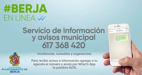 El Ayuntamiento de Berja en tu Whatsapp